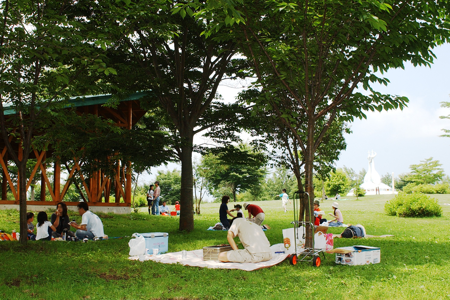 Picnic in Fujimi Lake Park