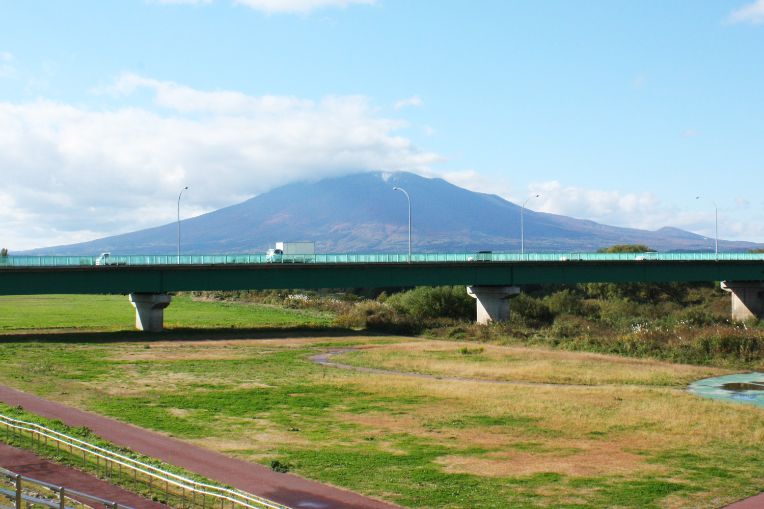 Sports Park view of Mt. Iwaki, also known as Tsugaru's Mt. Fuji