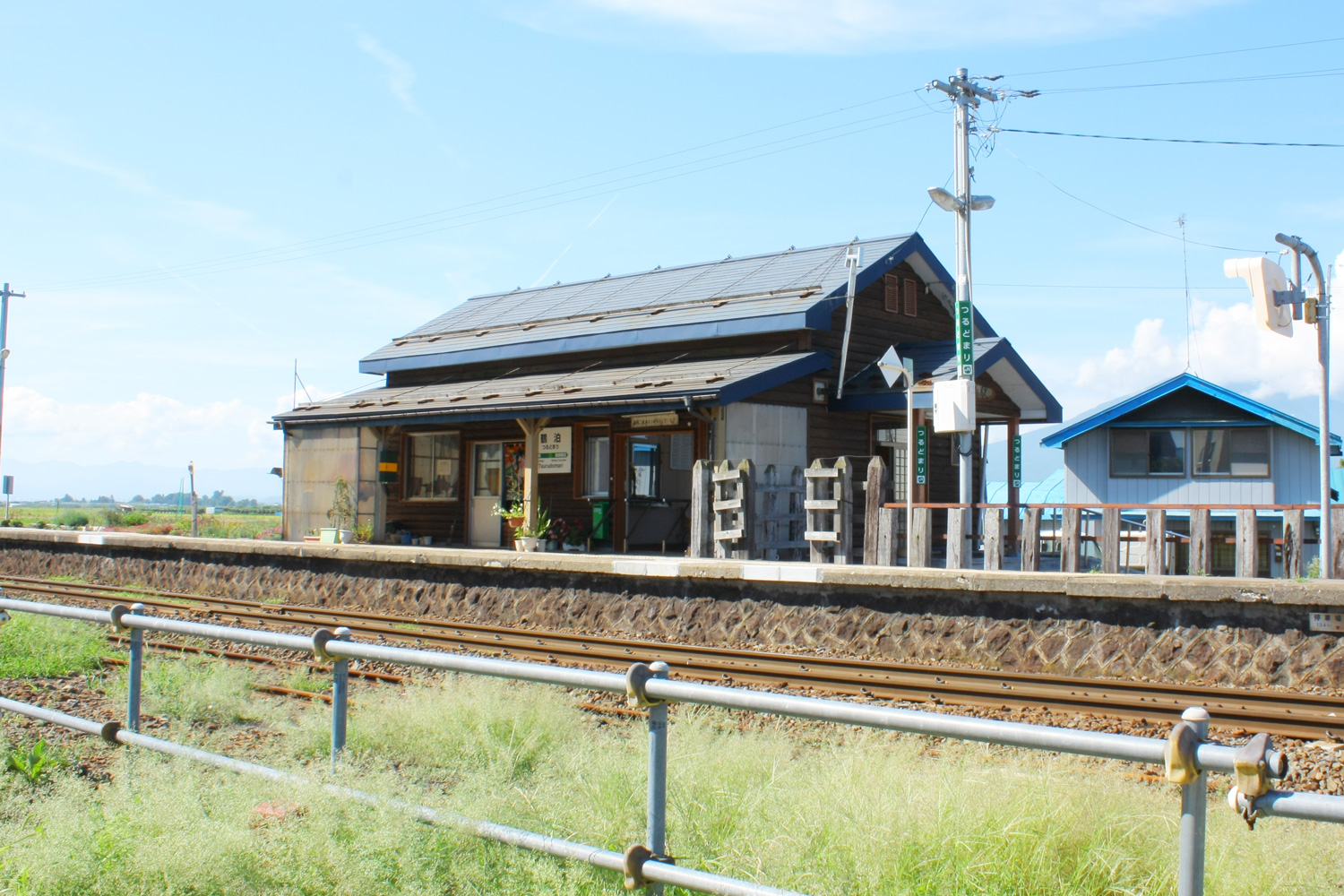 Classic wooden station building