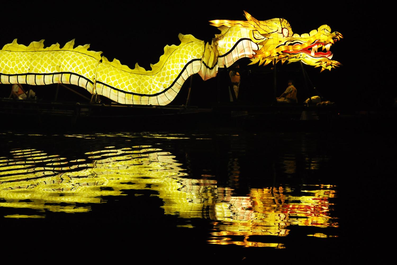 Dragon Ship parade on Fujimi Lake