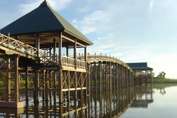 Tsuru no Mai Bridge: The longest (300m) wooden arched bridge in Japan