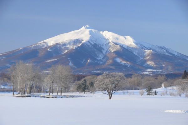 Mt. Iwaki from Fujimi Lake Park
