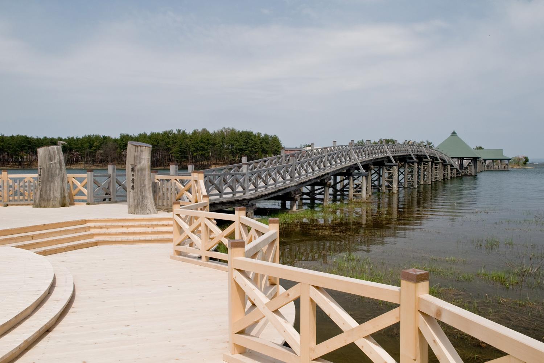 Tsuru no Mai Bridge is the longest wooden bridge in Japan