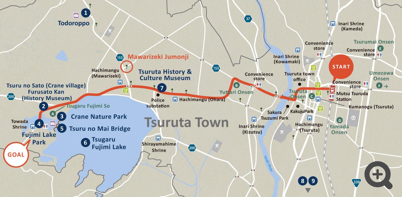 Directions to Tsuru no Mai Bridge & Tsugaru Fujimi Lake